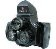 3D World 120 Tr-Lens: Stereoscopic Three Lenses 3D Camera